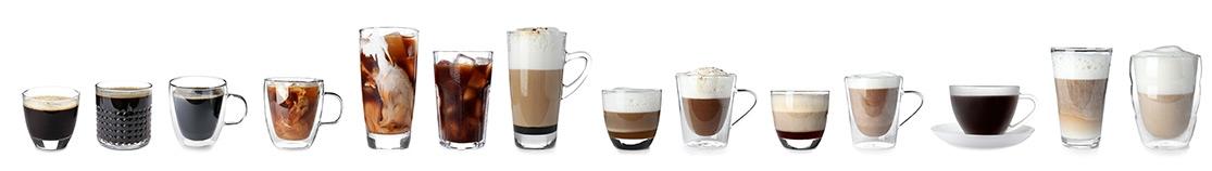 différentes tasses de café